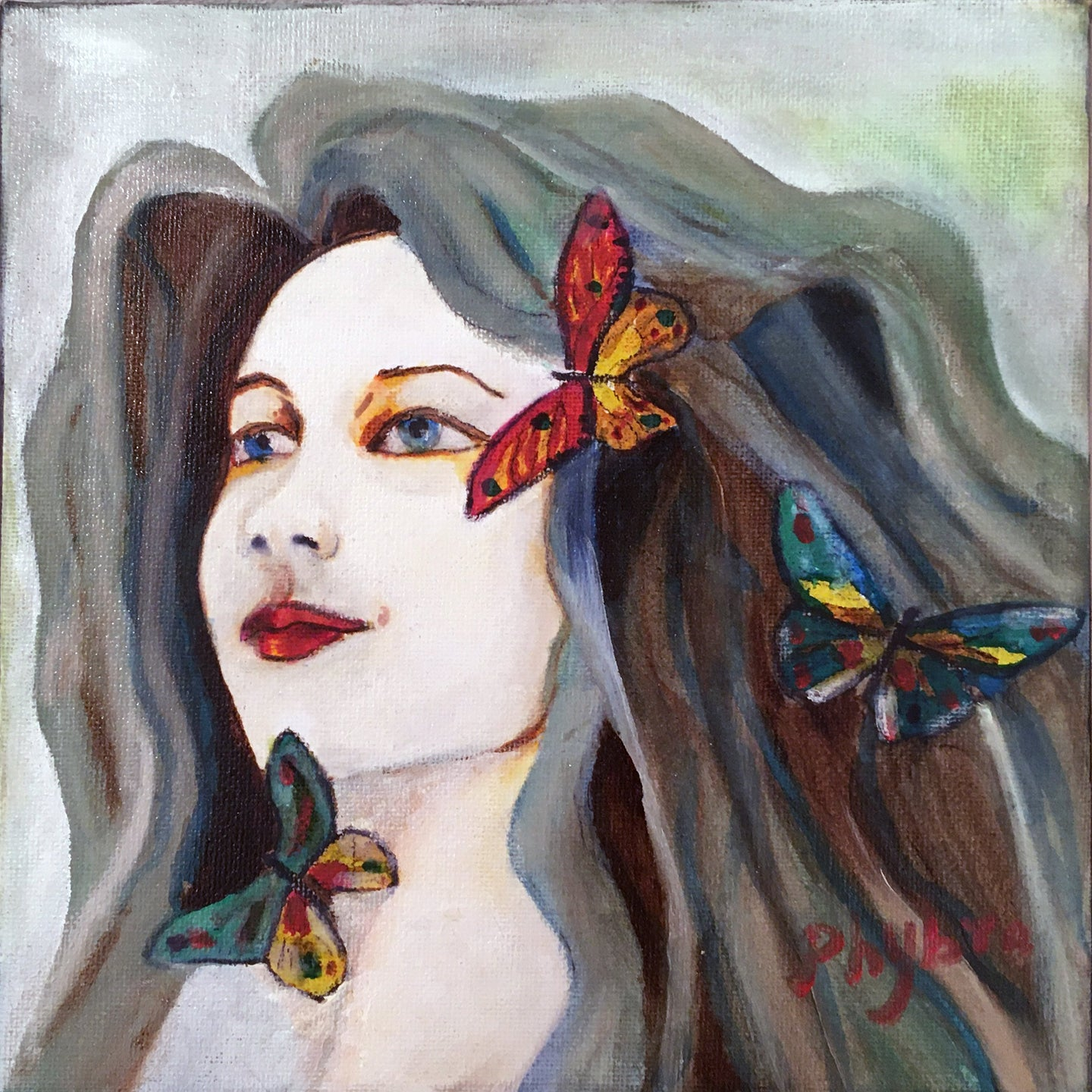 Peinture  de PHYBRA - Tendresse   (art contemporain, art figuratif, surréaliste )