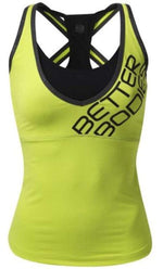 Better Bodies Women's Clothing Large Better Bodies Support 2-Layer Top Lime (Code: 20off)