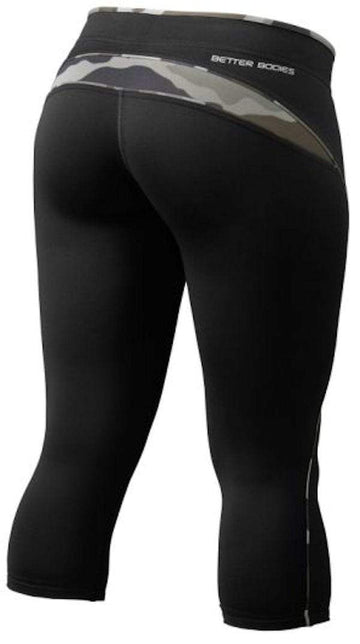 Better Bodies Shaped 3/4 Tights Black/Camoprint (code: 20off)