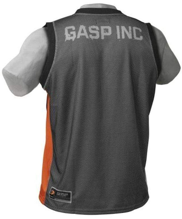 GASP Men Clothing Large GASP NO1 MESH TANK Black/Orange