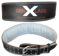 "GenXLabs Padded Weight Lifting Belt 4"" (Code: 20off)"
