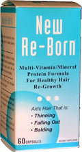 New Re-Born Hair Vitamins Health and Beauty 60 caps