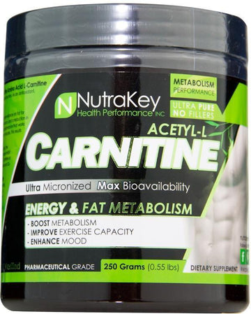 Nutrakey Acetyl-L-Carnitine Powder 500 servings