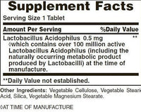 Nature's Bounty Digestion Nature's Bounty Acidophilus Probiotic 120 Tabs.
