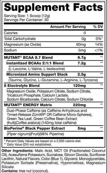 Mutant BCAA Energy 30 servings