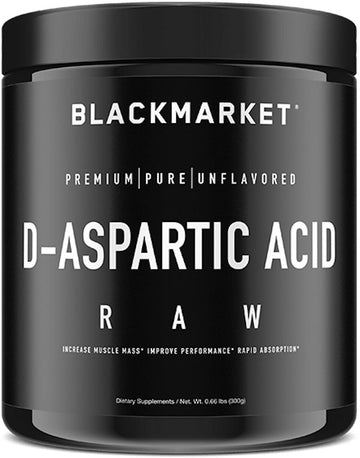 Black Market Labs D-Aspartic Acid Raw
