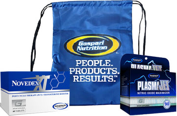 Gaspari Plasmajet and Novedex XL Muscle Stack with FREE Back Pack