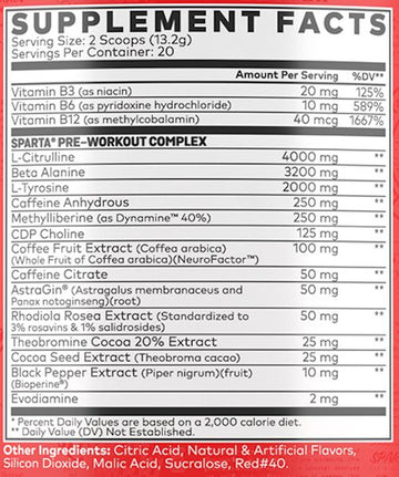 Sparta Nutrition Pre-Workout SMARTIES 20 servings