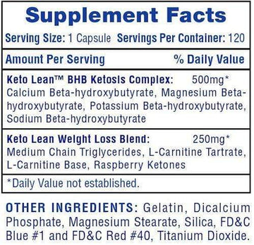 Hi-Tech Pharmaceuticals Keto Lean 120ct