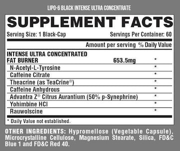 Nutrex Lipo-6 Black Intense 60 caps