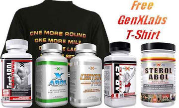 GenXLabs Mass Muscle Size Stack 5 Products Plus Free Shirt