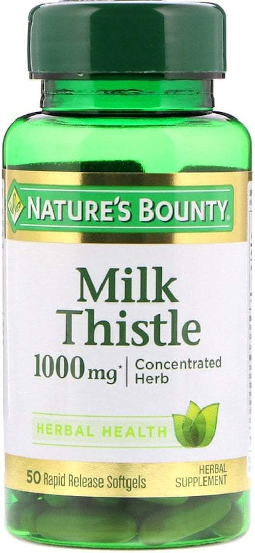 Nature's Bounty Liver Support Nature's Bounty Milk Thistle 1,000mg 50 Softgels