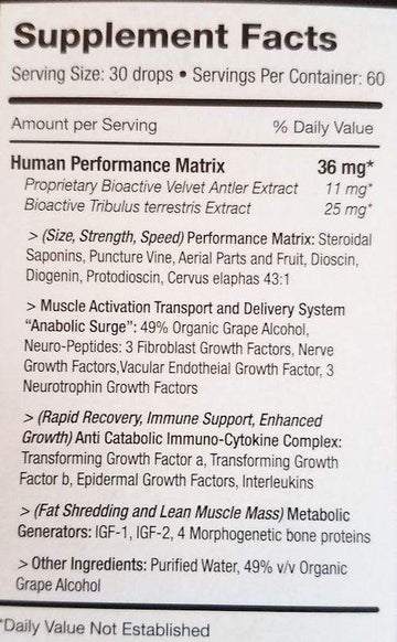 Pure Solutions Pure Factors Extreme 36 mg 2 oz. 60 ml