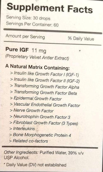 Pure Solutions Pure IGF-Extreme 11 mg 2 oz 60 ml  Blowout Sale