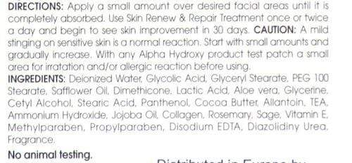 Health & Beauty Alpha Hydroxy Acid Perfect Body Parts Skin Renew and Repair Cream 8oz