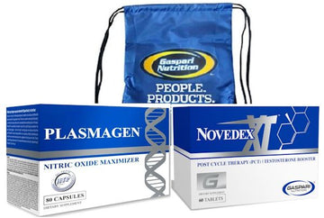 Gaspari Novedex-XT and Hi-Tech Plasmagen with FREE Back Pack