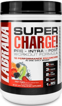 Labrada Pre-Workout Fruit Punch Labrada Super Charge Pre-Workout