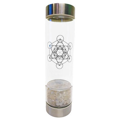 Clear Quartz Crystal Infused Water Bottle