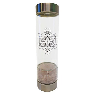 Rose Quartz Crystal Infused Water Bottle