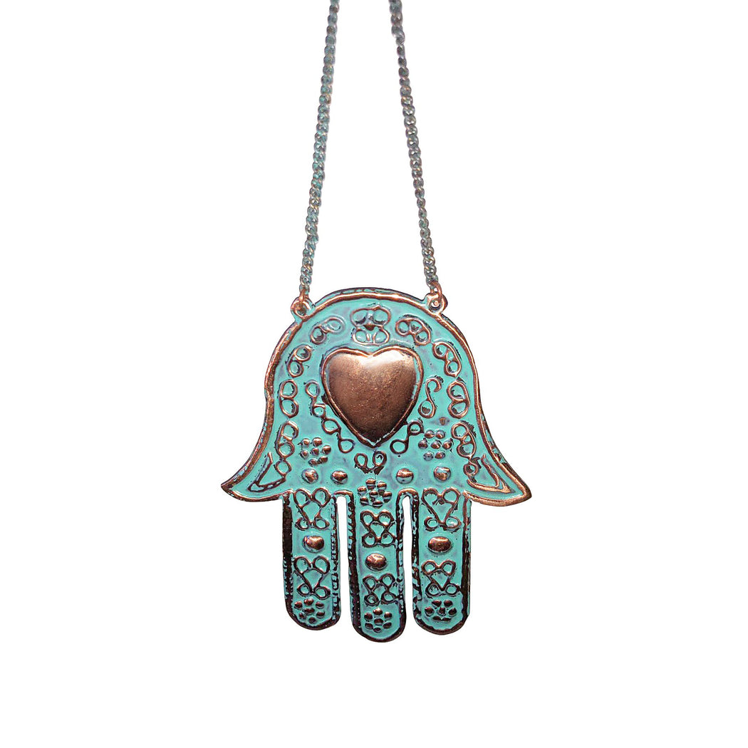 Hamsa Copper Ornament Wall Decor-Vida's Brooklyn