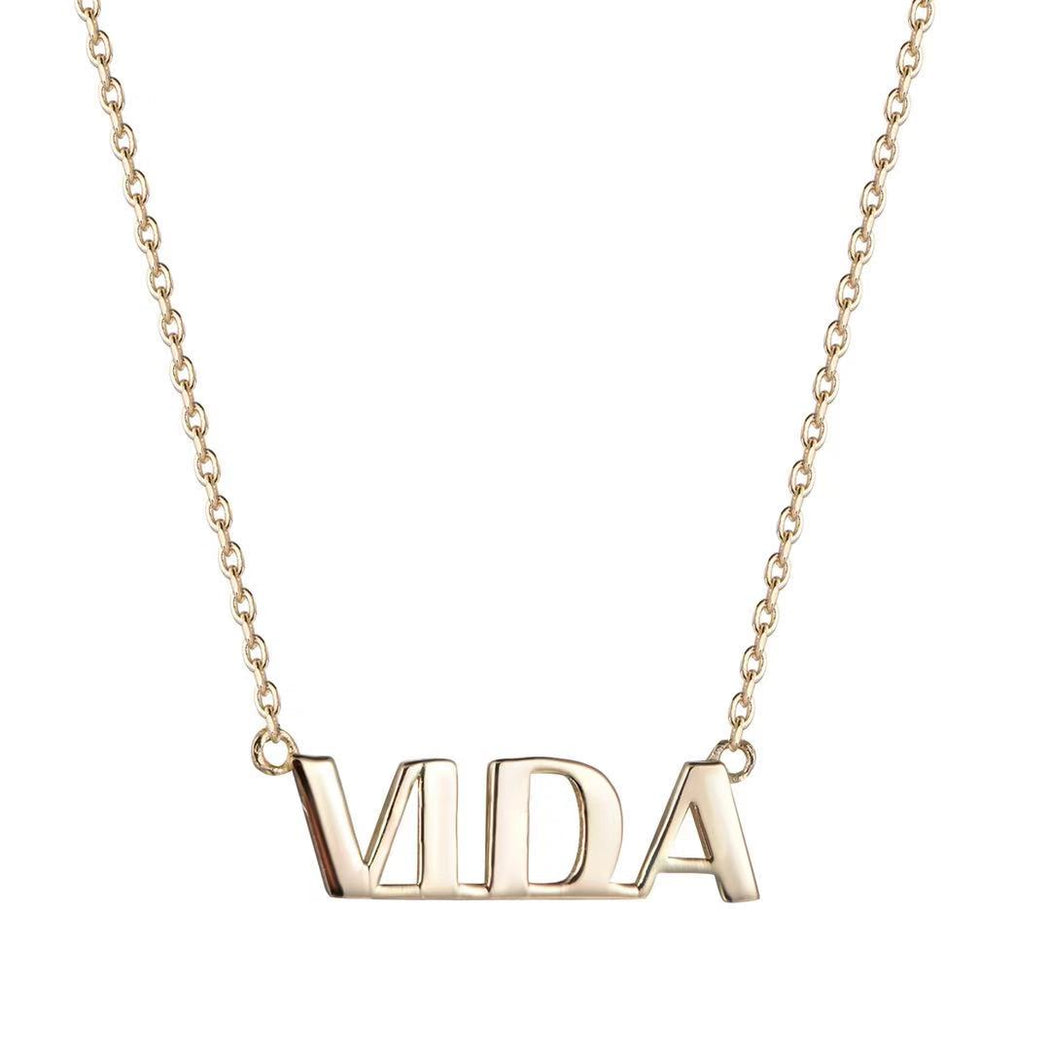 Vida Yellow Gold Plated Women's Necklace-Vida's Brooklyn