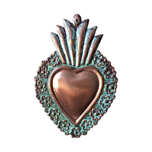 Sacred Heart Copper Milagro (Corazon Sagrado)-Vida's Brooklyn