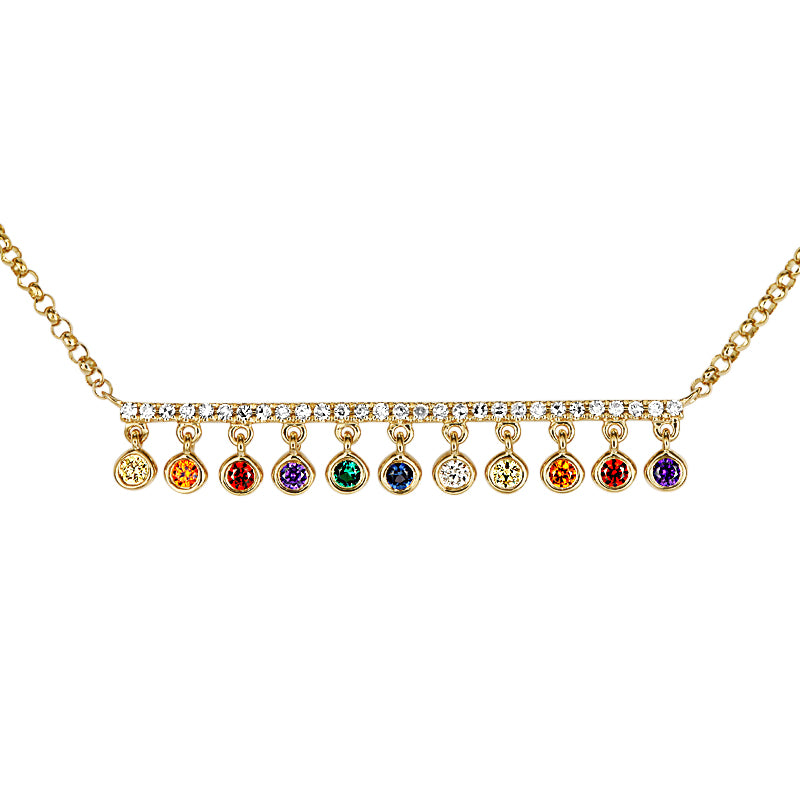 Full Cut Diamond Multi-Color Women's Pendant-Pendant-Vida's Brooklyn