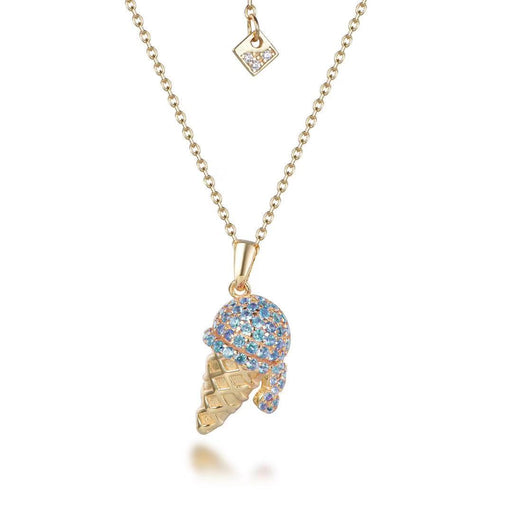 Sparkling Gold Blue Ice Cream Cone Bracelet-Necklace-Vida's Brooklyn