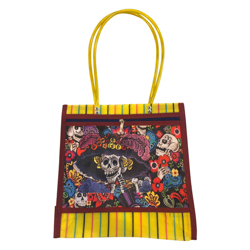 "Mexican Mercado Shoulder Mesh Bag ""La Catrina""-Vida's Brooklyn"
