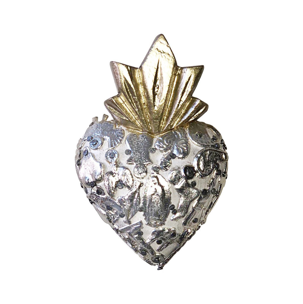 "Mexican Sacred Heart ""Milagros"" Petite Ornament-Vida's Brooklyn"