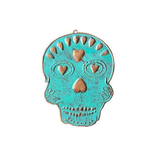 Copper Skull Ornament-Vida's Brooklyn