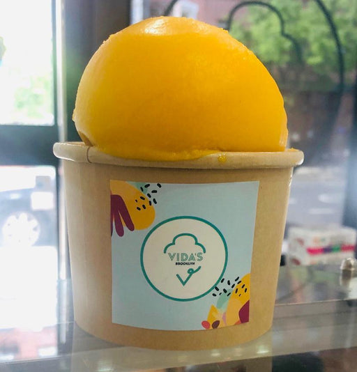 Mango Sorbet Cone-Ice Cream-Vida's Brooklyn