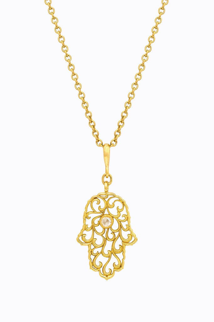 Diamond Fatima Pendant