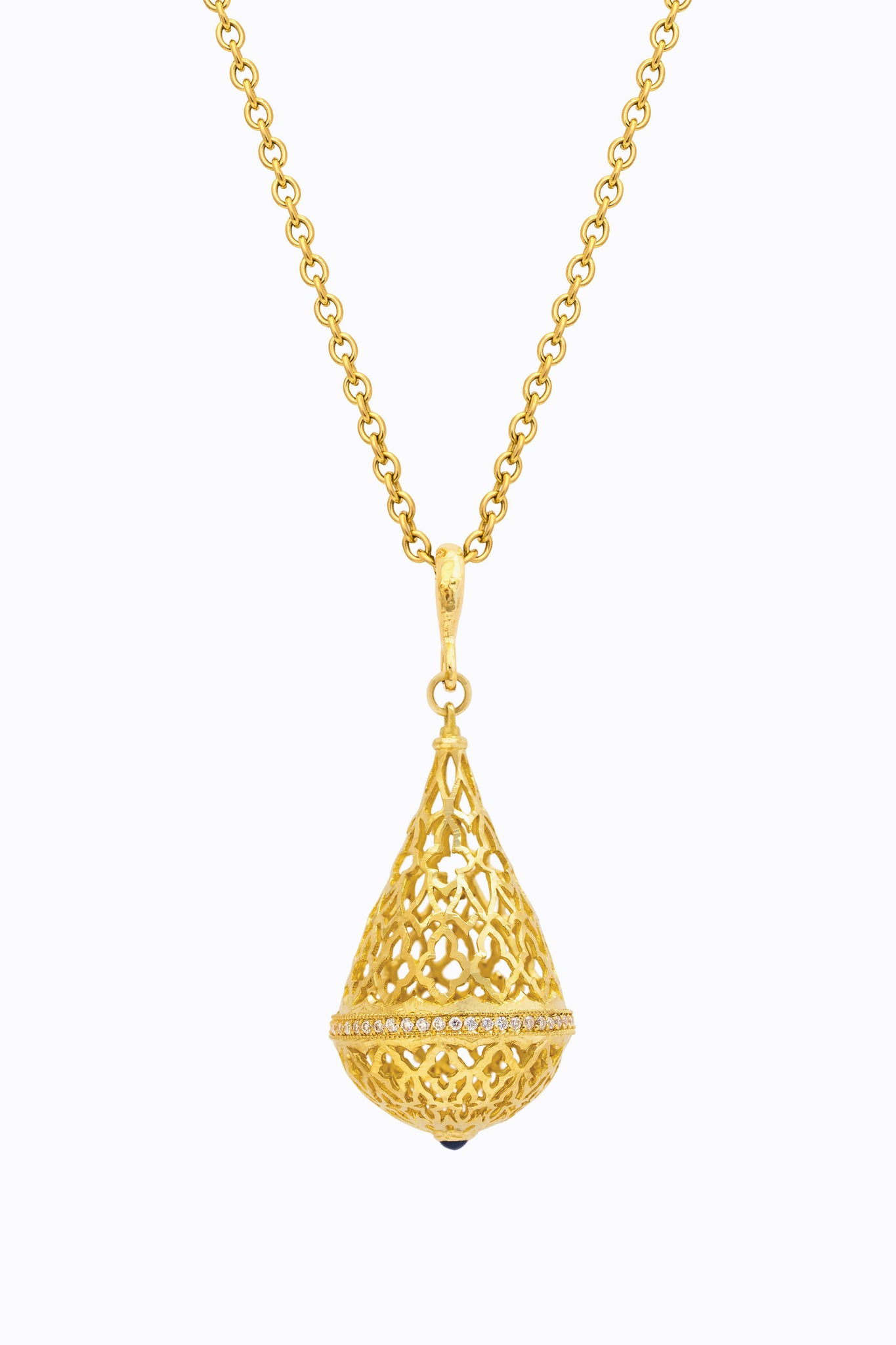Teardrop Lattice Pendant