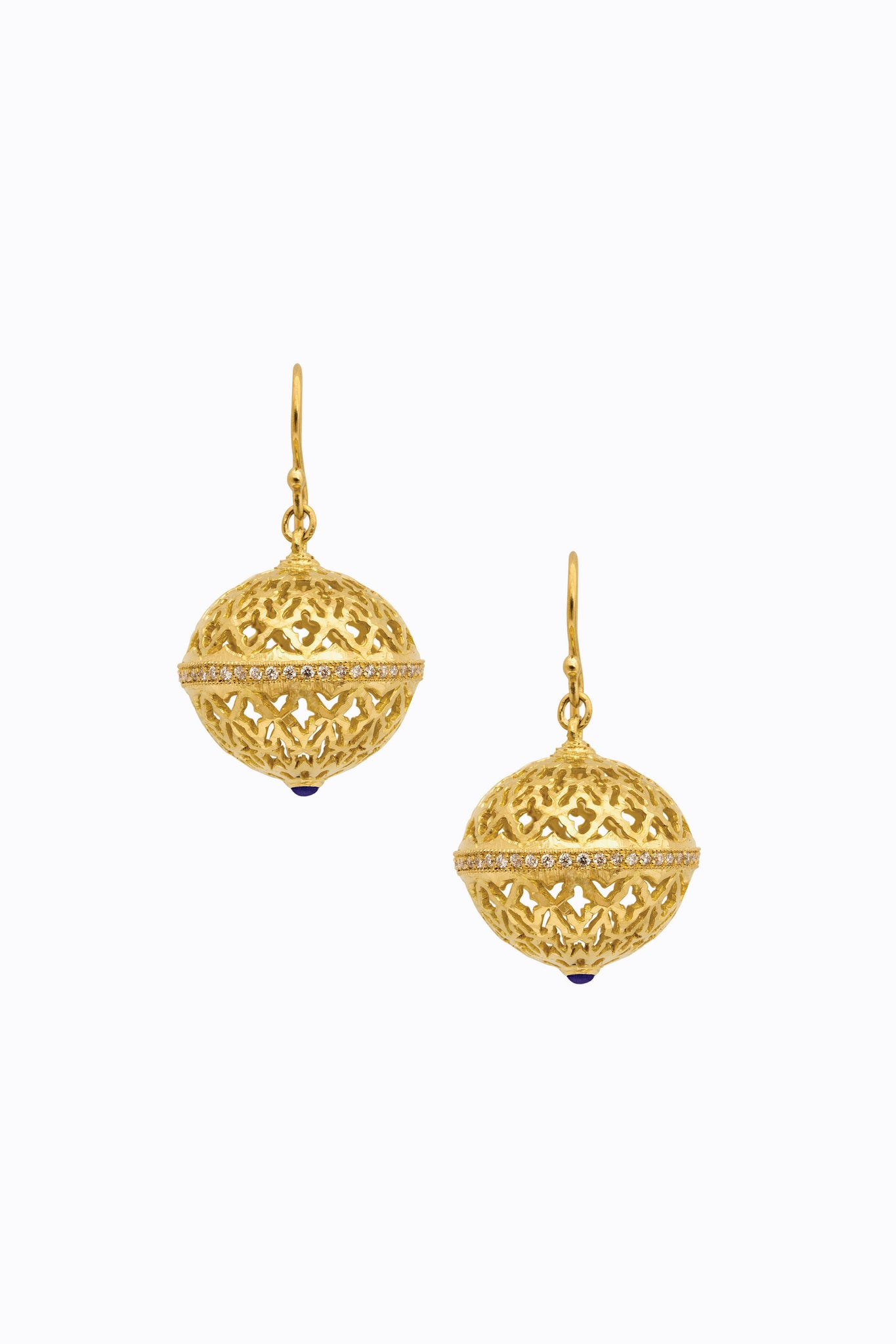 Lattice Globe Earrings