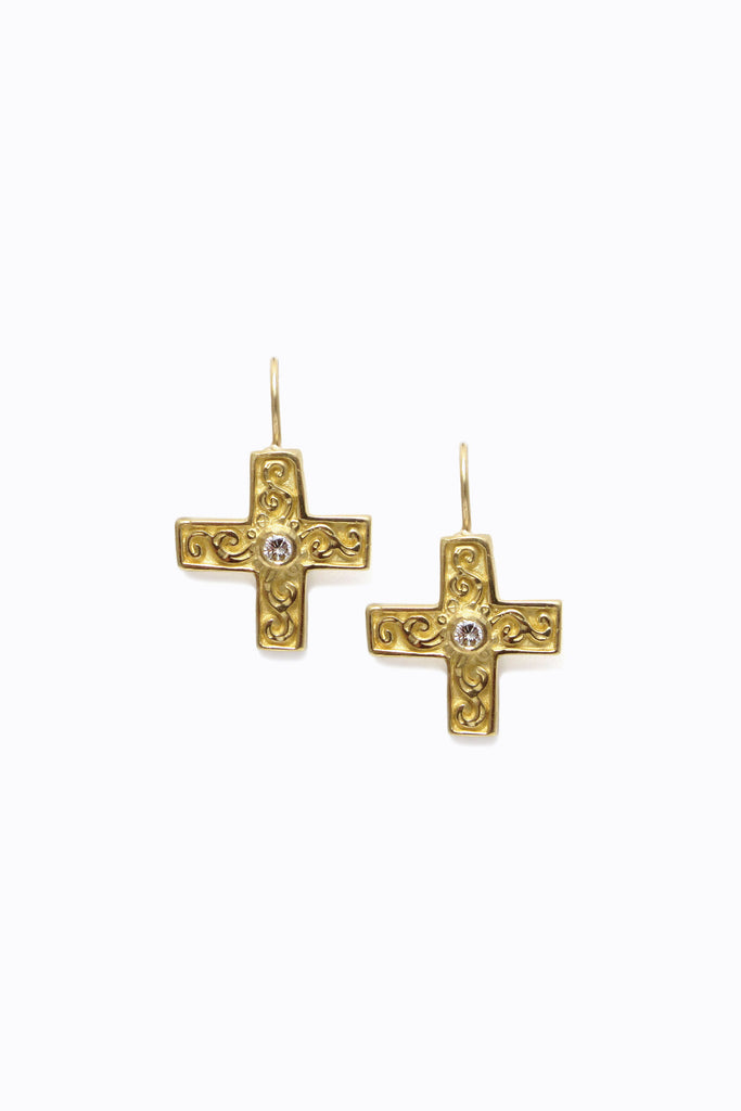 Flora Cross Earrings