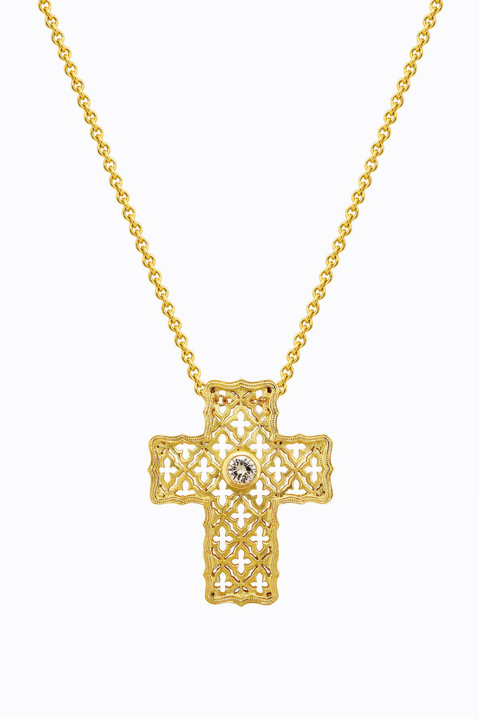 Lattice Cross Pendant