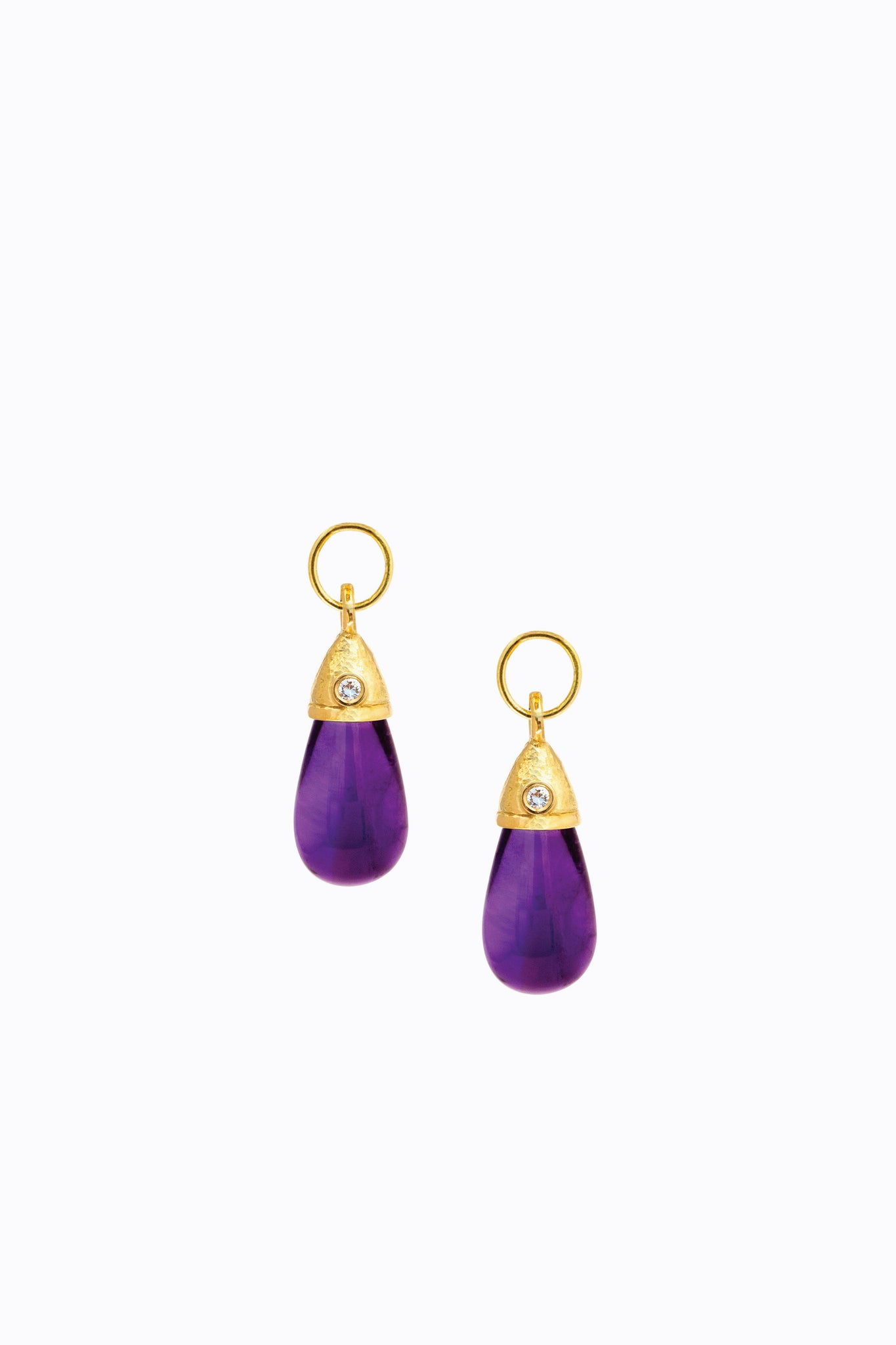 Amethyst Diamond Drops