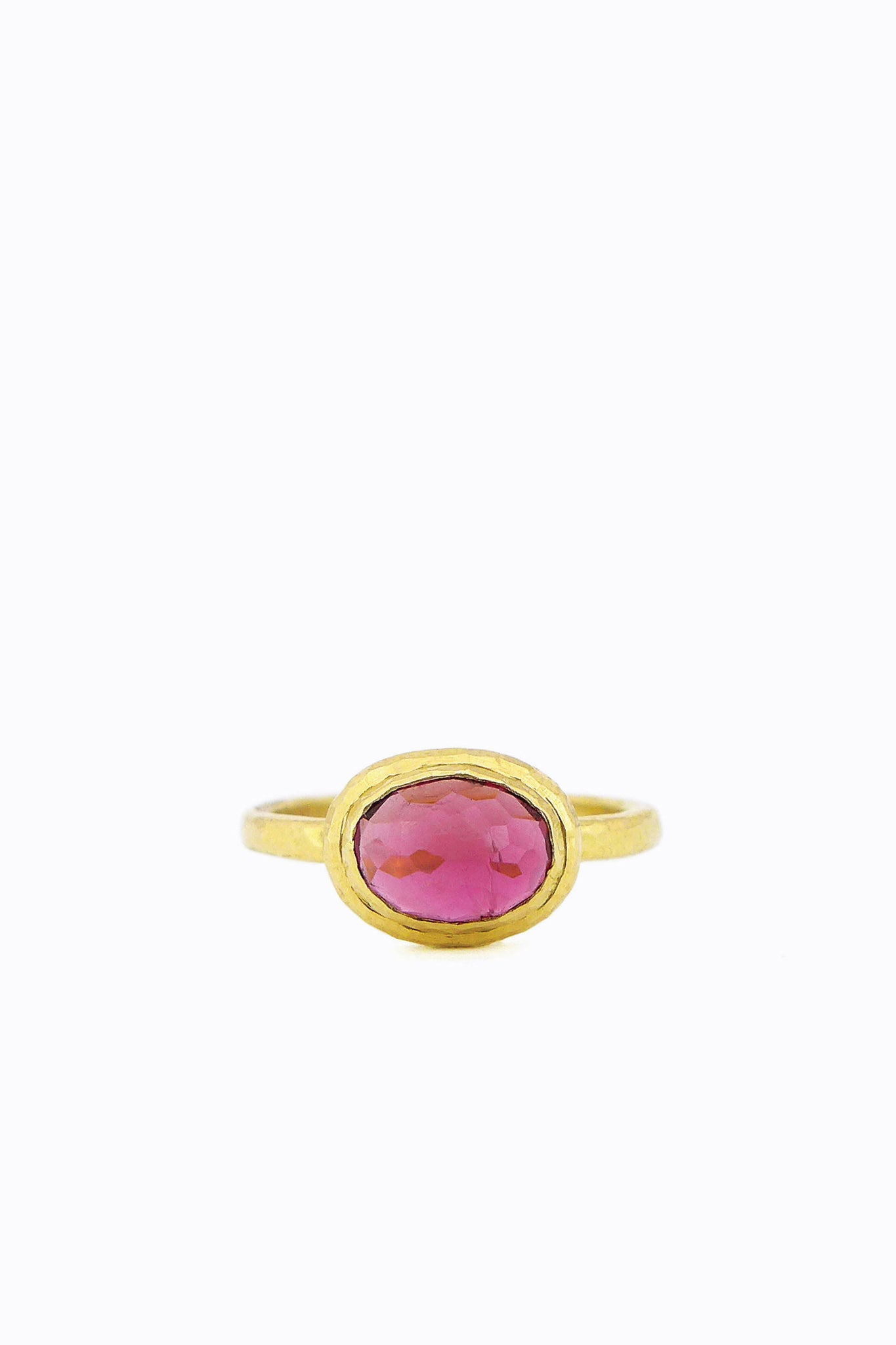Large Pink Tourmaline Oval Gemma Ring