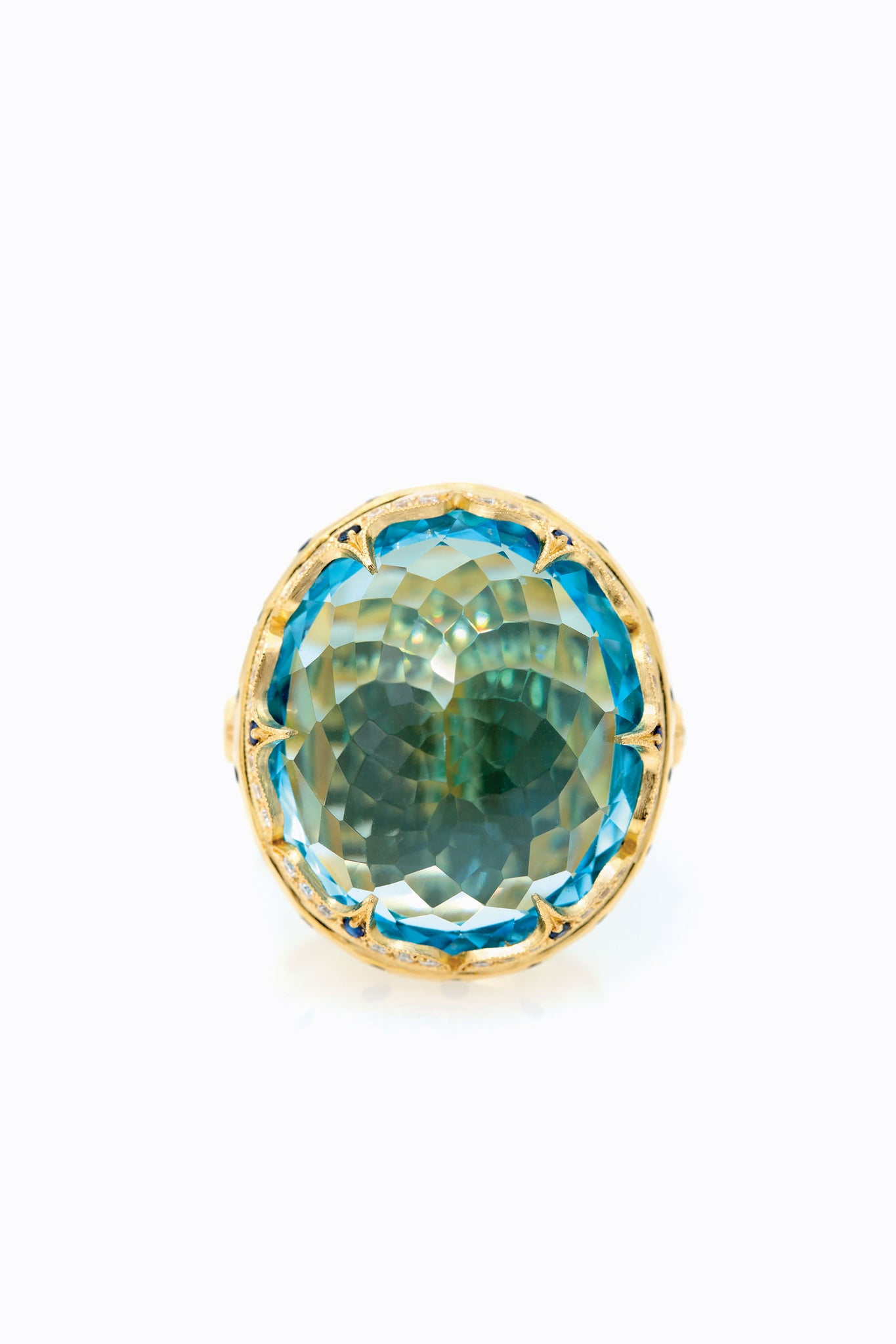 Blue Topaz Aria Ring