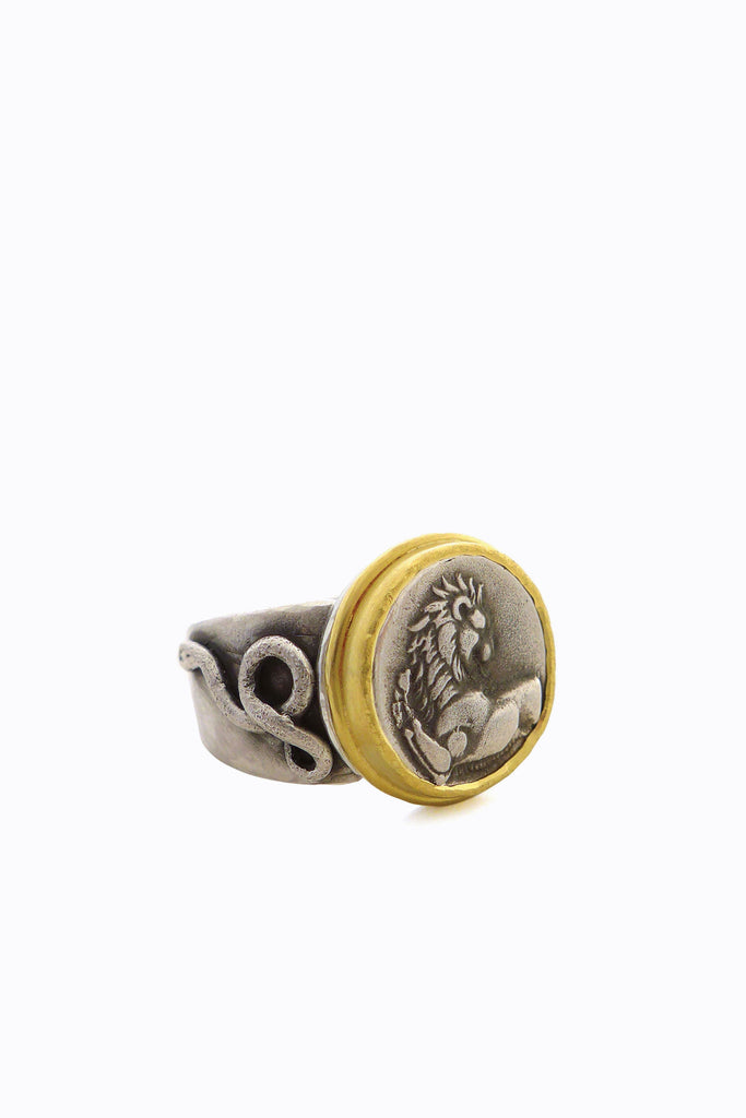 Silver & Gold Tanis Ring