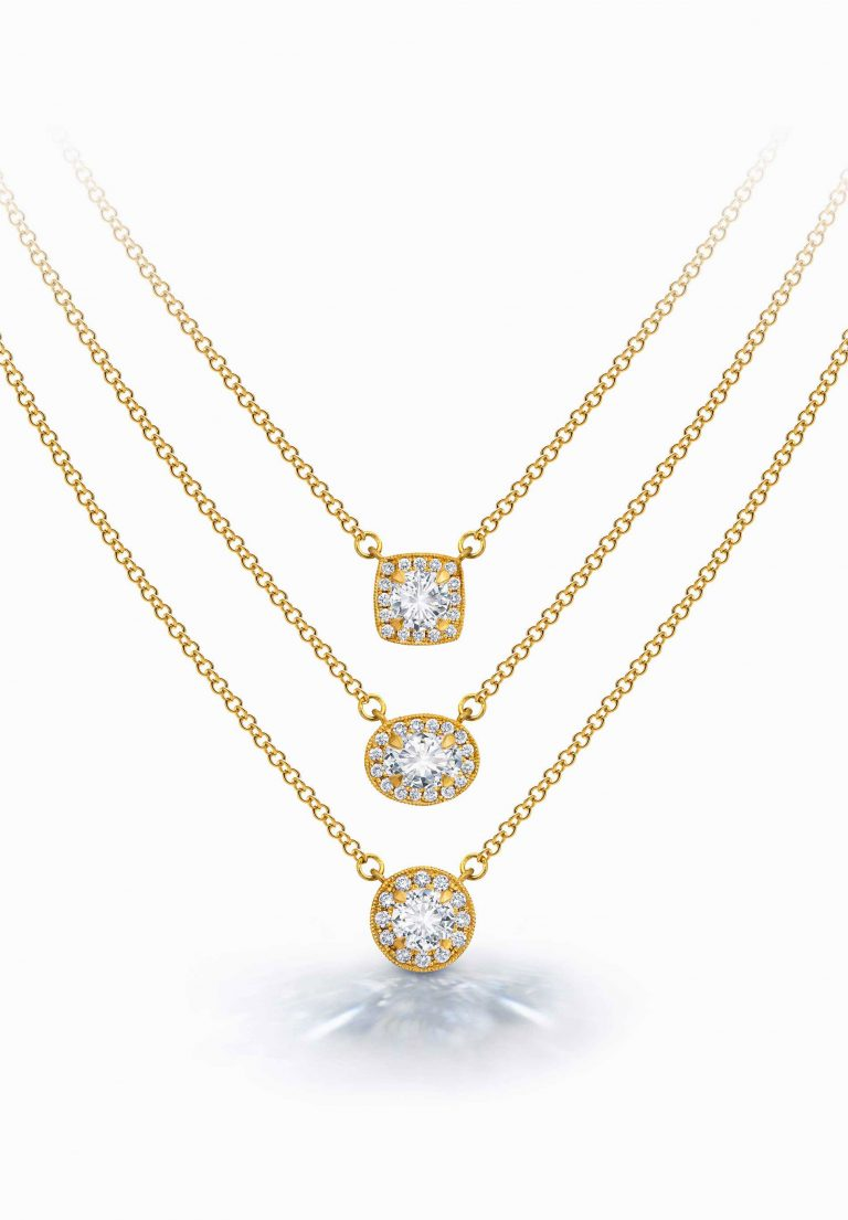 Round Multi-Diamond Pendant