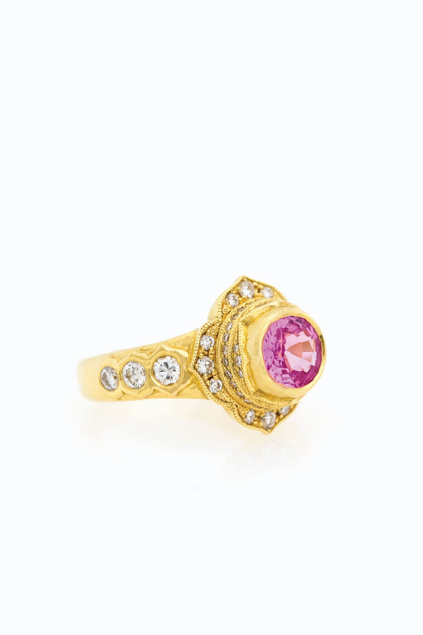 Pink Sapphire Vena Ring