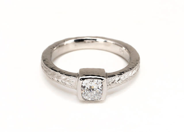 Cushion Chiseled Diamond Ring