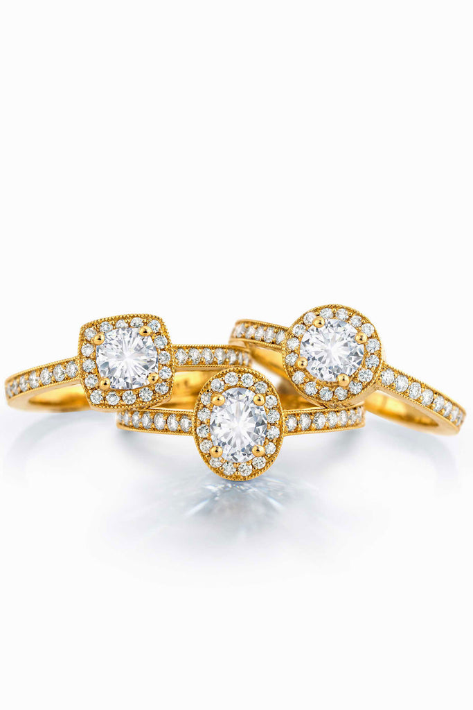 Cushion Multi-Diamond Ring
