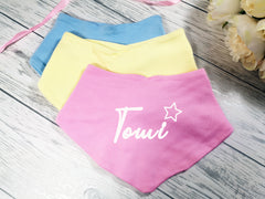 Personalised Baby Star Name Bandana Bibs