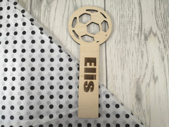 Personalised Wooden Football Bookmark Any Name Any Message