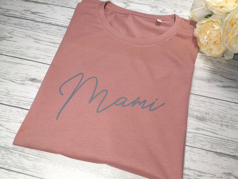 Personalised Women's Dusky pink t-shirt Any Name