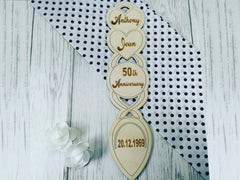 Personalised Engraved Anniversary Welsh love spoon 25th 30th 40th 50th