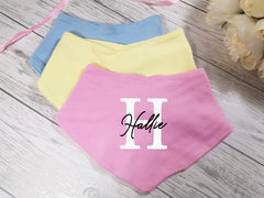 Personalised Baby Letter Name Bandana Bibs